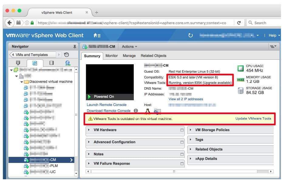 VMWare Tools Interface