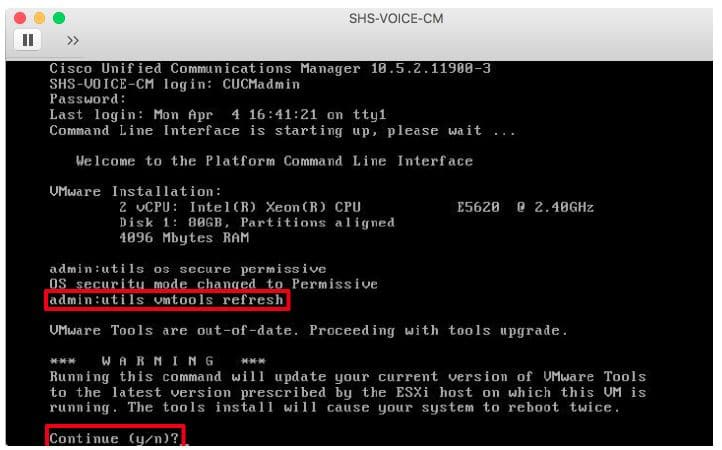 Cisco virtual server CLI