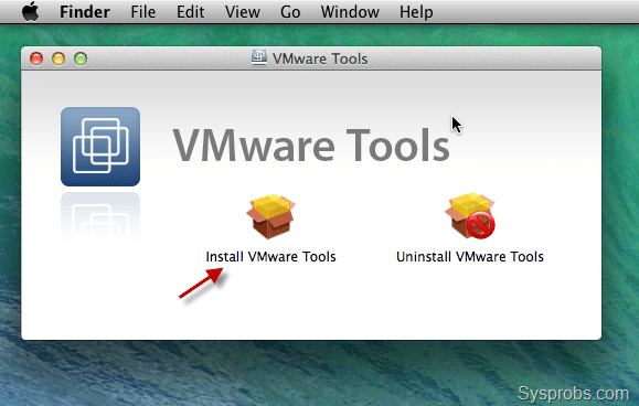 windows 7 install vmware tools