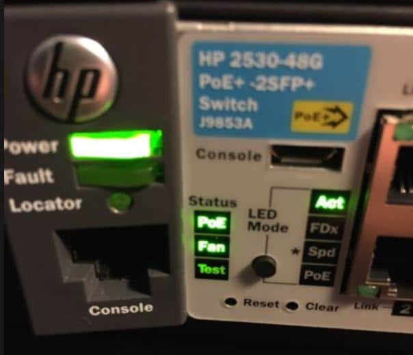 Insufficient Power Allocation error message on HP switches -