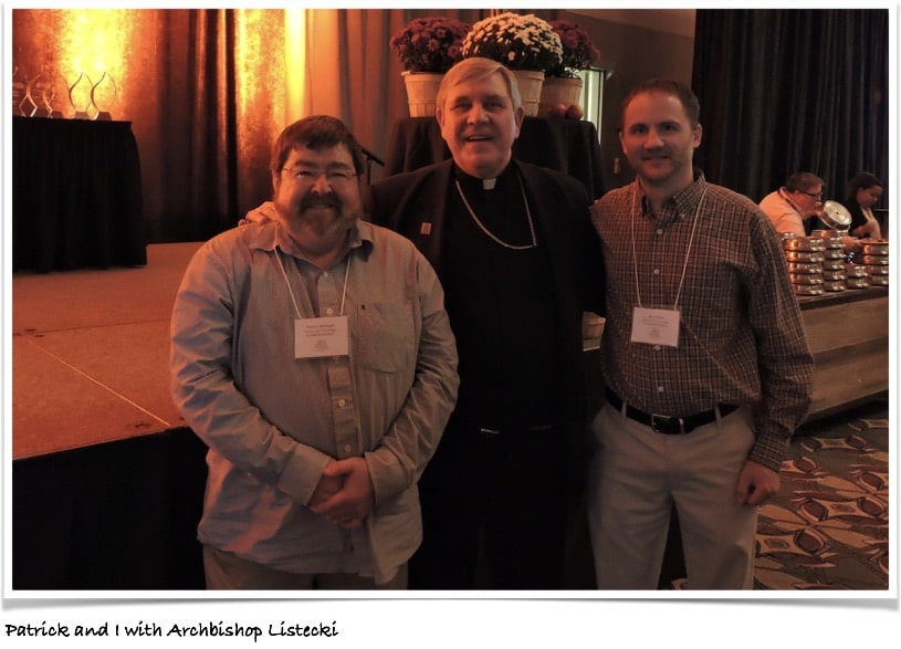Meeting Archbishop Listeki at the Catholic Educators Convention in Milwaukee