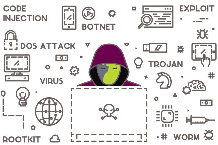 hacker working on malware evolution
